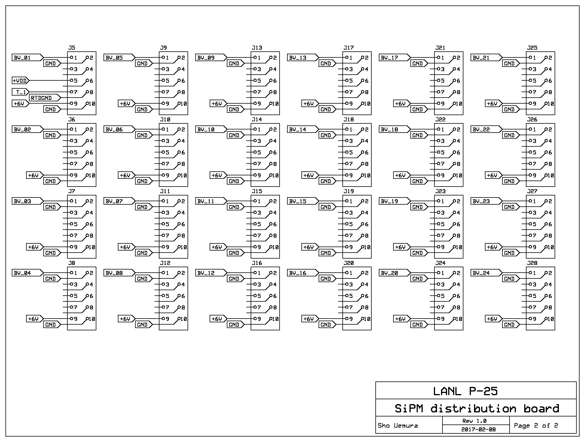 Power Distribution Board Schematic 2